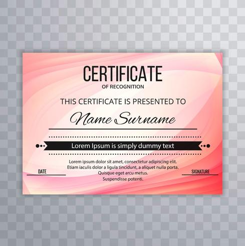 Fundo elegante lindo modelo de certificado
