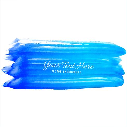 Beautiful blue watercolor hand draw strokes background
