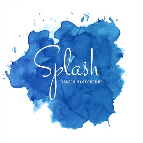 Modern blue soft watercolor splash background