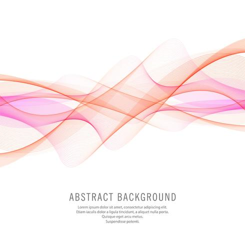Abstract colorful stylish business wave background