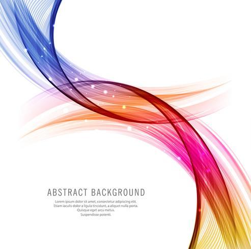 Fond de conception vague colorée abstraite