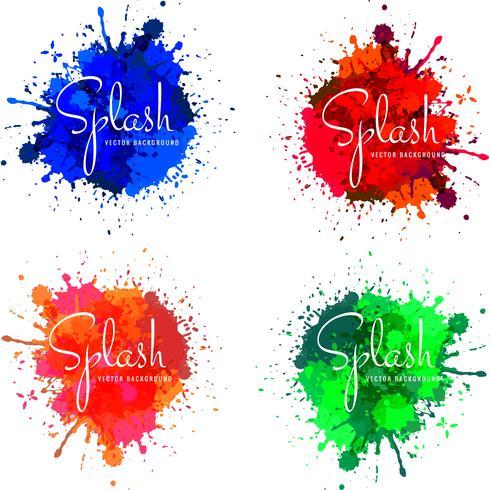 Modern watercolor colorful splash design