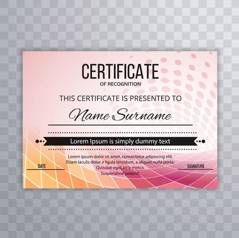 Bunter Hintergrund der modernen Zertifikatschablone