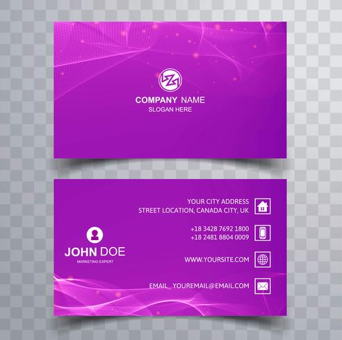 Abstract stylish colorful business card design