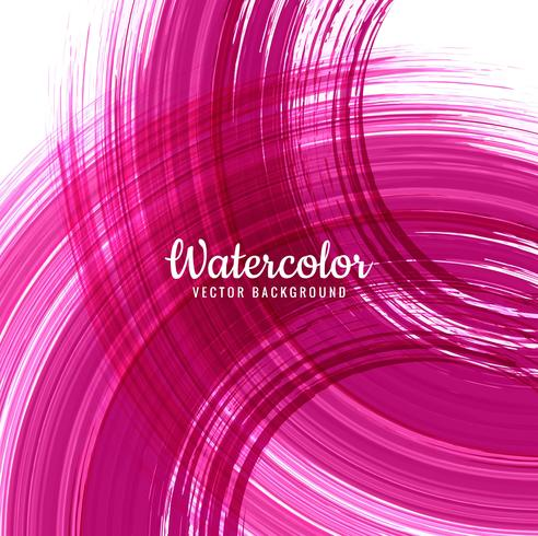 Abstract pink watercolor stroke background