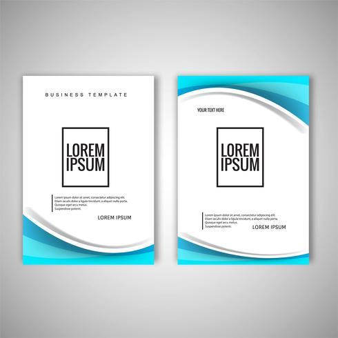 Conception de vecteur de modèle de brochure entreprise moderne