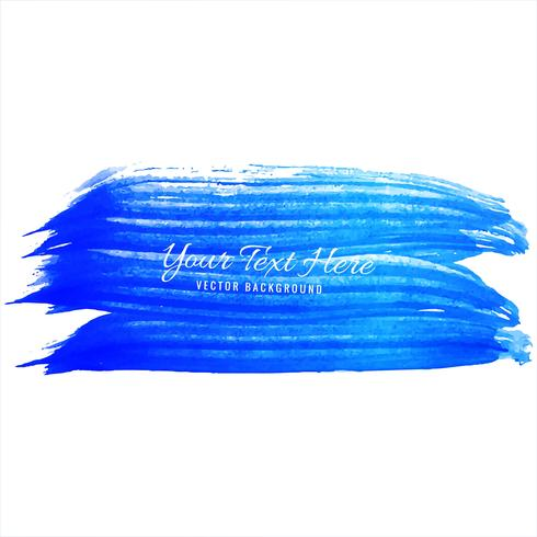 Watercolor blue hand draw strokes background