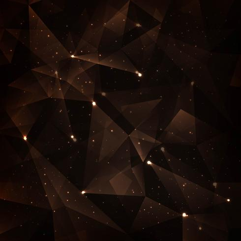 Abstract dark colorful polygonal background