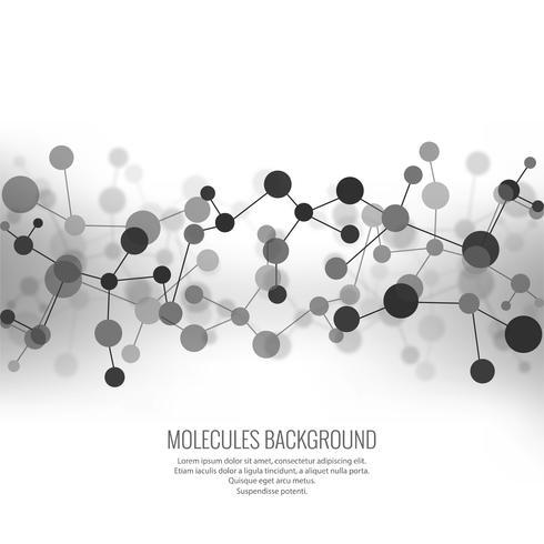 Resumen moléculas de fondo vector