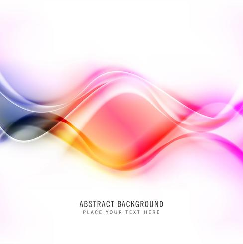 Abstract shiny colorful creative wave background