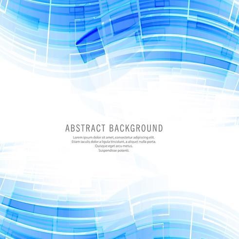 Modern blue technology wave background vector