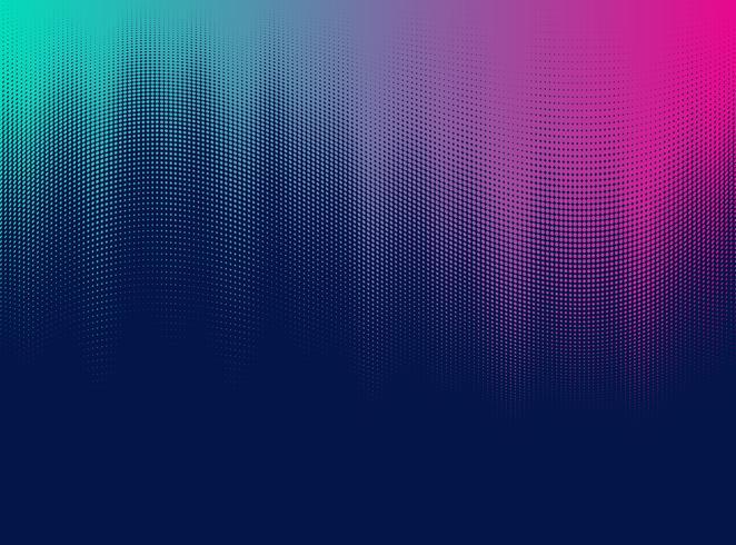Halftone gradient effect.