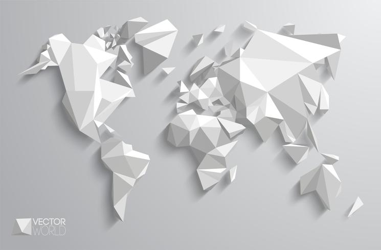 Vector veelhoekige wereldkaart