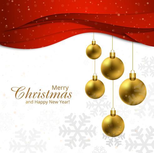 God julkula med röd vågig bakgrund