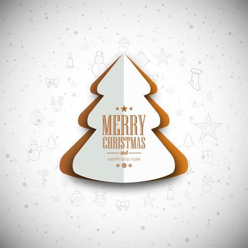 Sfondo di albero di Natale moderno