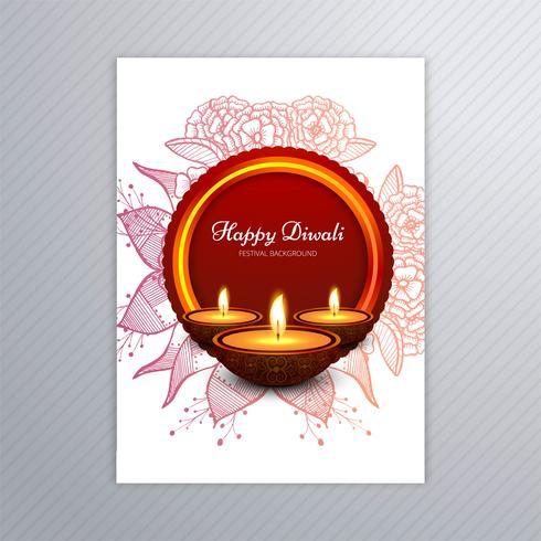 Diseño decorativo de la plantilla de la tarjeta de felicitación de Diwali