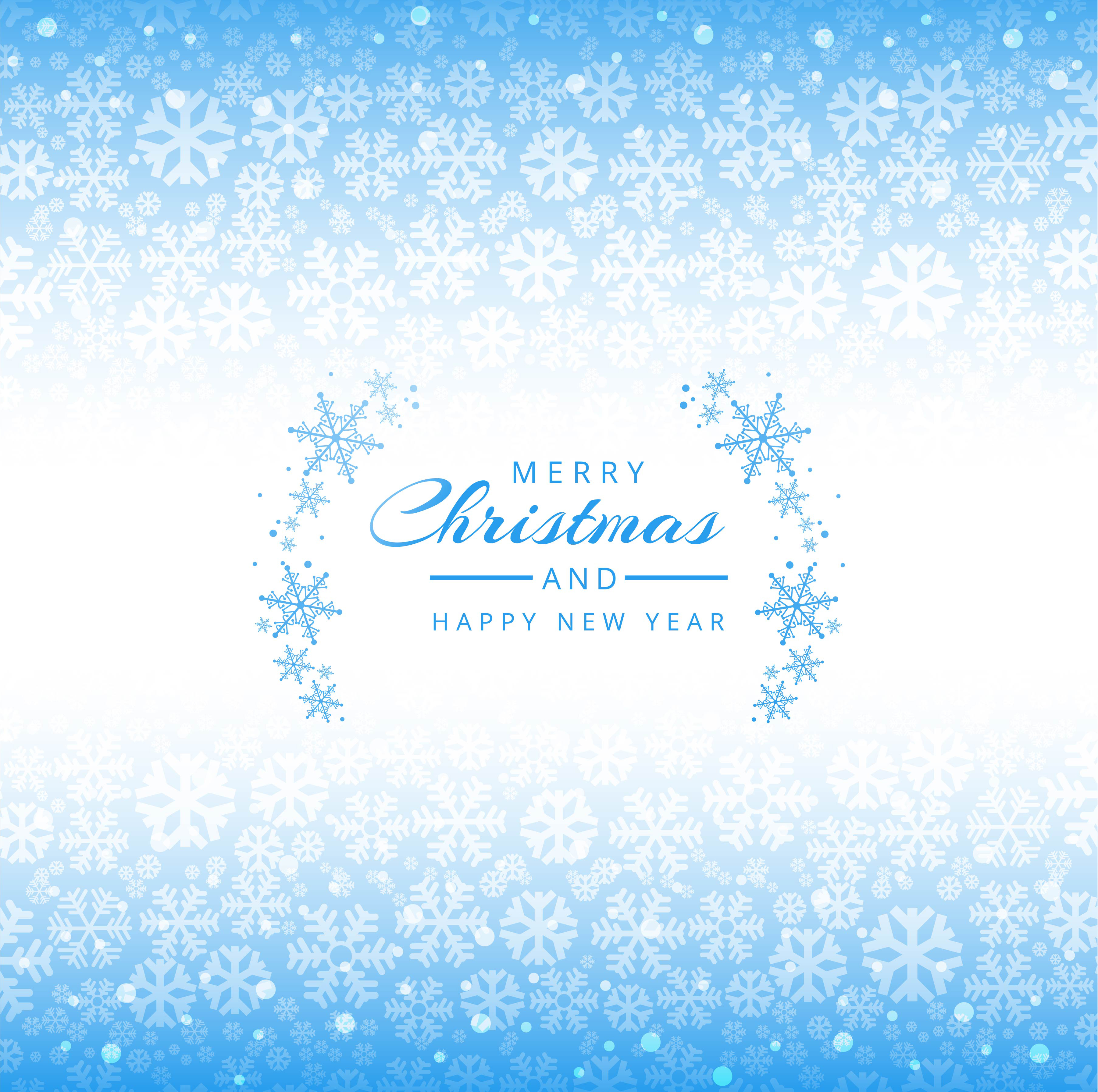 Merry Christmas snowflakes blue background - Download Free Vector ...