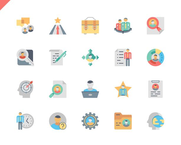 Simples conjunto cabeça caça plana ícones para site e aplicativos móveis. 48x48 Pixel Perfeito. Ilustração vetorial.