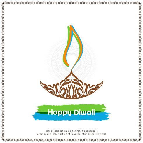 Fondo elegante abstracto abstracto festival de Diwali