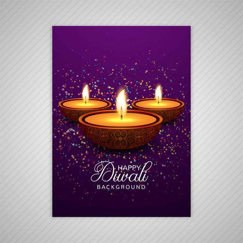 Decoratieve diwali wenskaartsjabloon ontwerp
