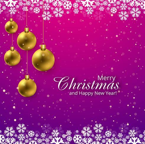 Glad jul hälsning kort snöflingor bakgrund illustration