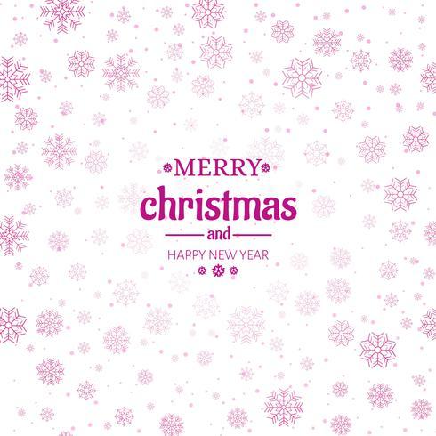 Ejemplo del fondo de los copos de nieve de la tarjeta de felicitación de la Feliz Navidad