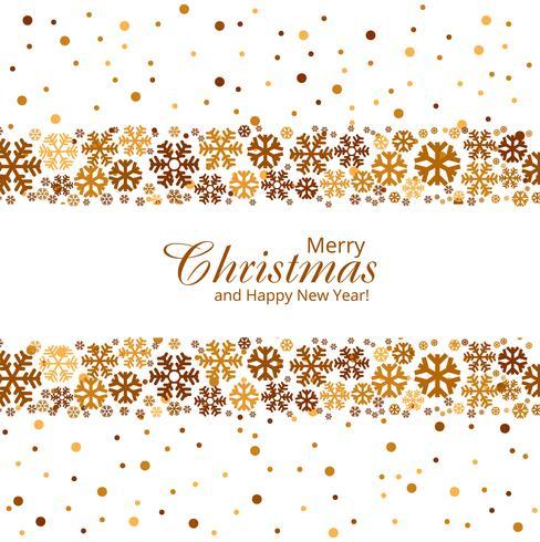 God julkort med kreativ snöflingor vektor ba