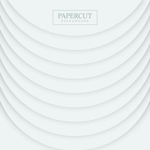 Eleganter Papercut-Formkreis-Wellenhintergrund