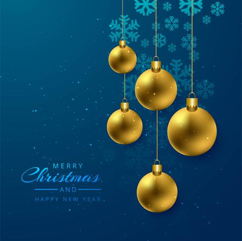 Christmas shiny ball decorative card background vector
