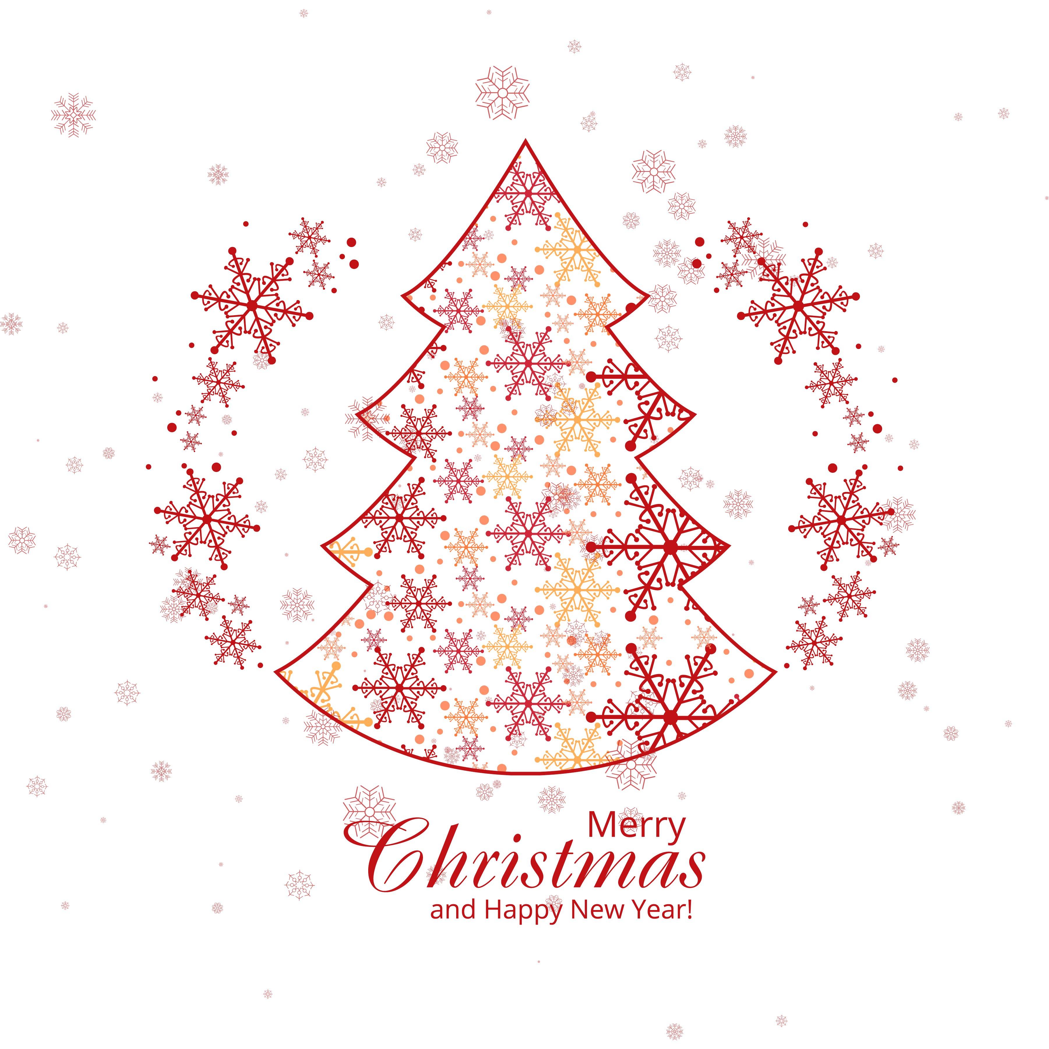 Elegant snowflakes decorative merry christmas tree background ...