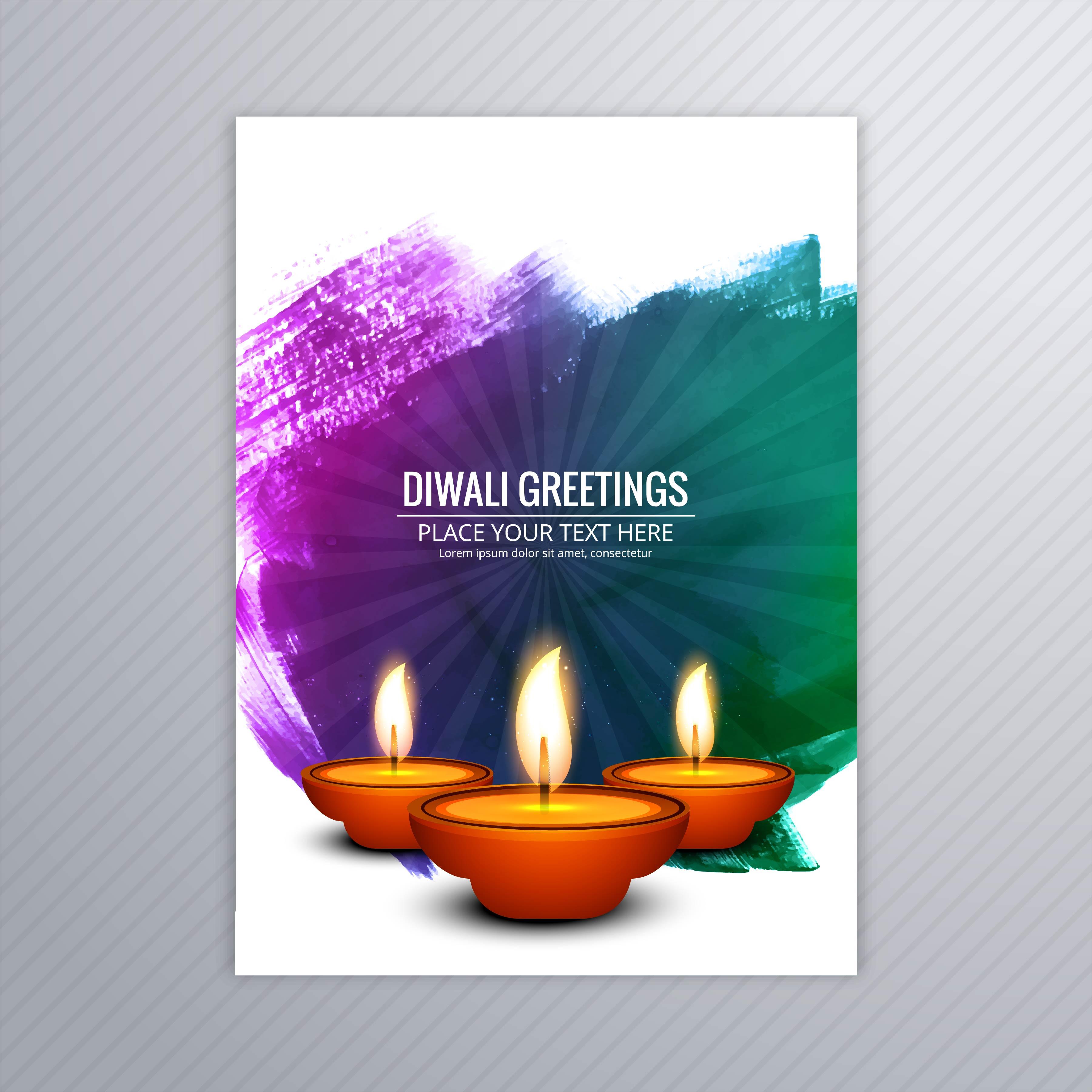 decorative diwali greeting card template design 257976