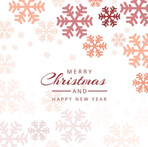 Vetor de fundo colorido decorativo de flocos de neve de Natal