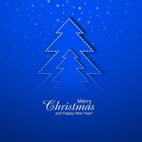 Schöner blauer Weihnachtshintergrund mit kreativem Baumdesign VE