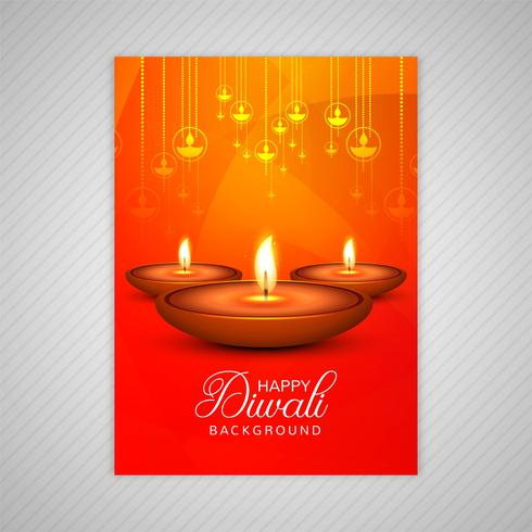 Happy diwali colorful brochure template vector