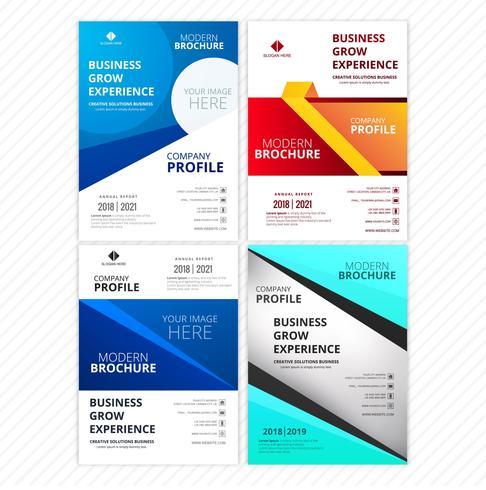 Moderne stijlvolle buis brochure kaart collectie sjabloon vector