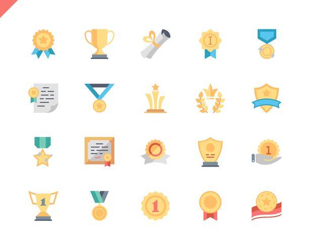 Simple Set Awards Flat Icons pour site Web et applications mobiles. 48x48 Pixel Parfait. Illustration vectorielle