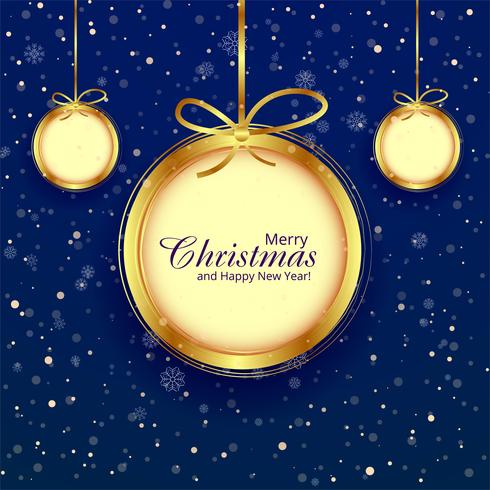 De bal decoratieve blauwe van Kerstmis achtergrondillustratievector