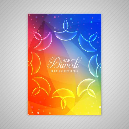 happy diwali colorful brochure template vector download free