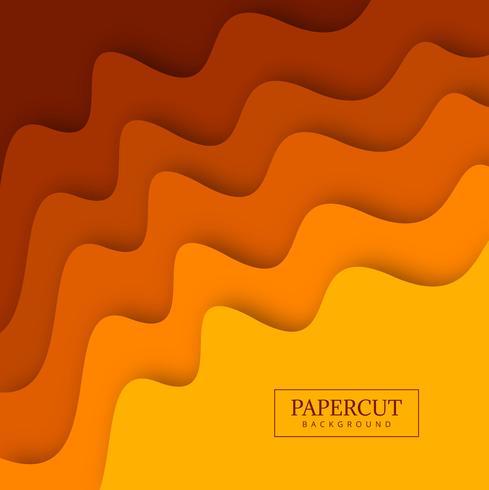Illustrazione variopinta di progettazione dell'onda di Papercut vettore