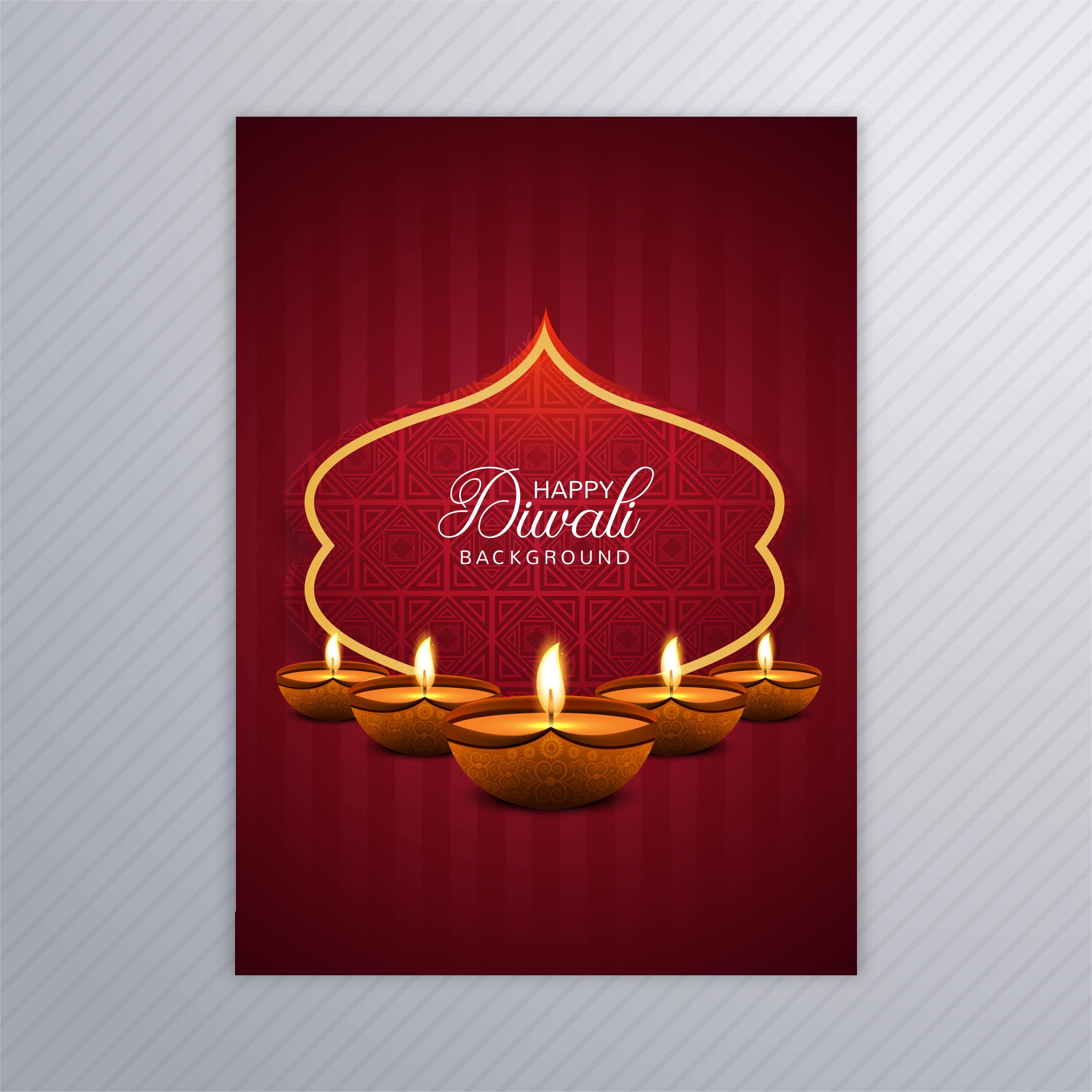 decorative diwali greeting card template design 258090