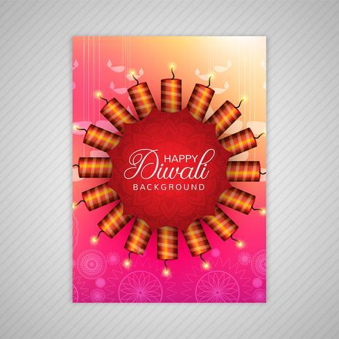 Conception de modèle de carte de voeux diwali décorative