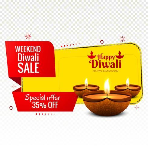 Fahnen-Designvektor des Wochenend-diwali Verkaufs bunter