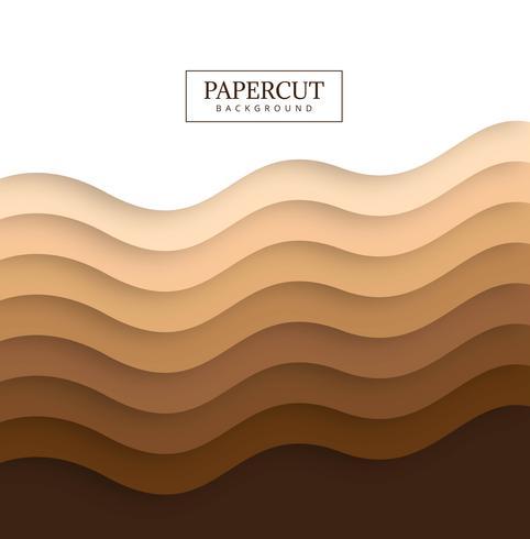 Vacker Papercut färgstark våg bakgrund