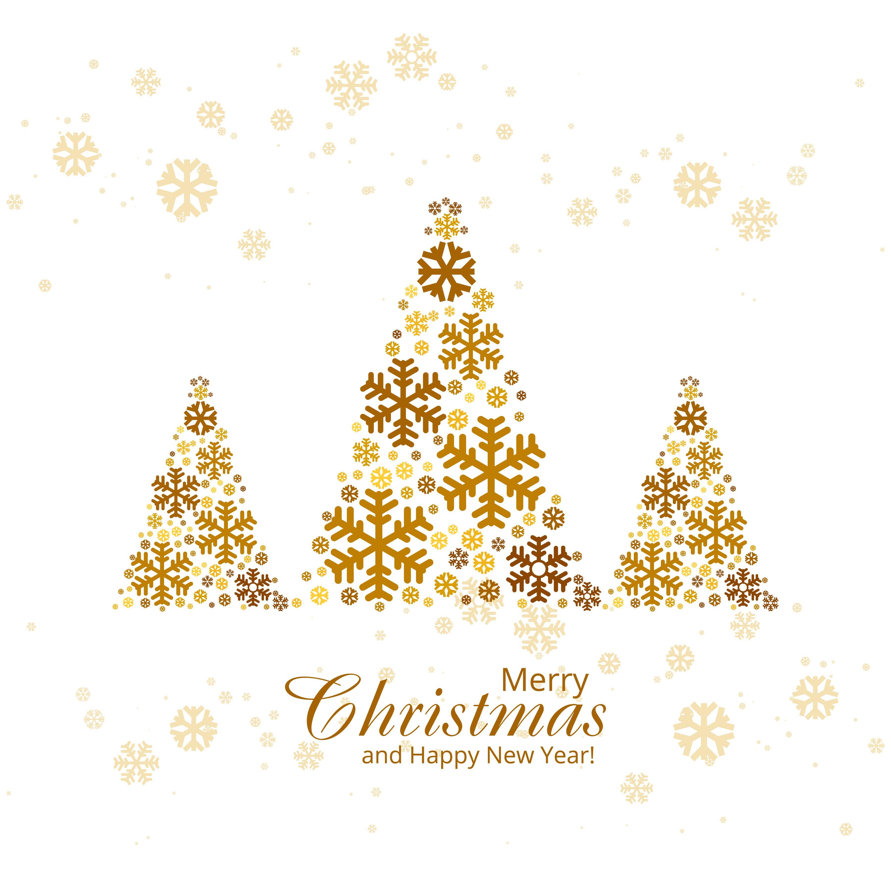 Christmas Tree Merry Christmas: Merry Christmas Greeting Card With Christmas Tree