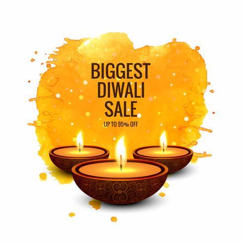 Diwali super försäljning färgstarka banner design vektor