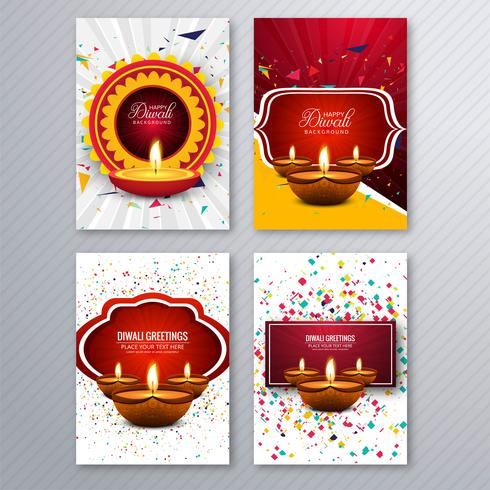 Mooi van de de kaartmalplaatje van de diwaligroet de brochure vastgesteld ontwerp