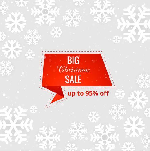 Beautiful  Merry Christmas big sale background vector