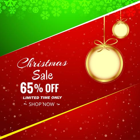 Christmas sale background with Christmas ball colorful backgroun