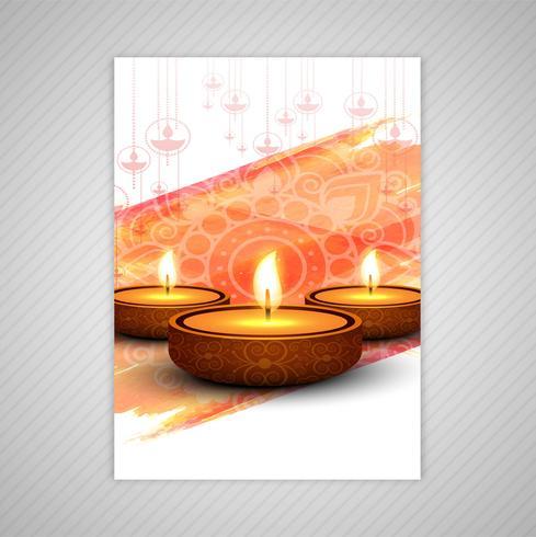 Feliz diwali colorido folheto modelo vector