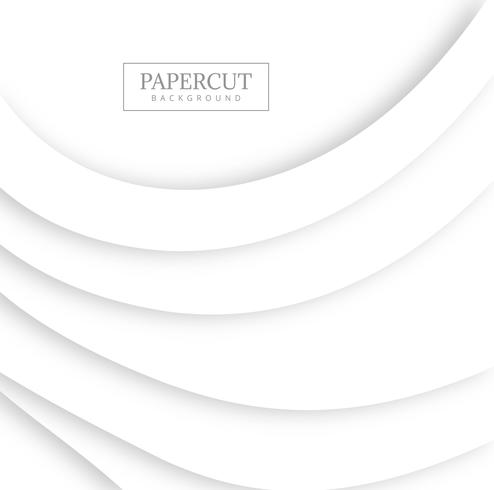 Abstract papercut gray wave design vector
